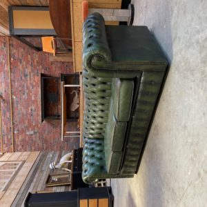 Canapé Chesterfield vert 3 places