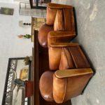 Paire de fauteuils «Club» années 50