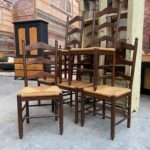 Suite de 6 chaises campagnardes
