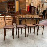 Suite de 4 chaises de bistrot début XXème