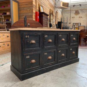 Ancien meuble de métier 8 tiroirs