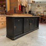 Ancien meuble de métier 4 portes coulissantes